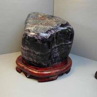 🚚 天地 藝品 專櫃 精品 天然 完美 優質 翡 冷 翠 ( 紫 螢石 ) 大型 原礦 擺件 淨重 3.2 公斤 H148 割愛 !