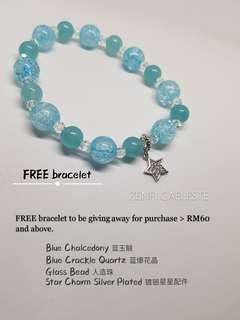 ZENFI CAELESTE handmade bracelet. To be given away for total purchase > RM 60 & above.