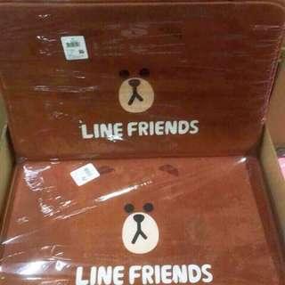 🚚 正版授權 LINE FRIEND 熊大 防滑地墊 地毯 墊子 腳踏墊 寵物墊