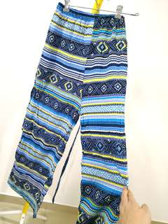 Summer  Flowy palazzo blue toned wide stretchy pants