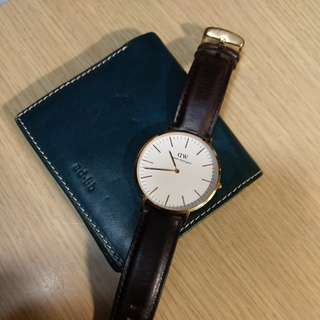 Daniel Wellington watch + adlib wallet