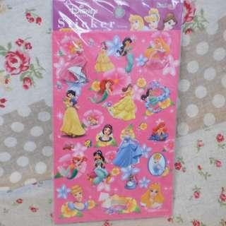Disney 灰姑娘 白雪公主 貼紙