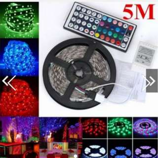 5M RGB LED Strip Light Bars Fairy Lights With Remote Control Super BrightHEA