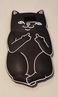 Black Cat Middle Finger Case for Note5