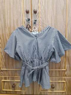 NEW Blouse Lonceng Stripes