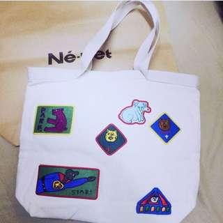 Ne-net  絕版 100% new tote bag 厚身帆布袋 全新