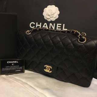 Chanel Classic Flap medium 荔枝皮 caviar