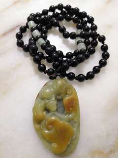 Antique Yellow Jade Pendant