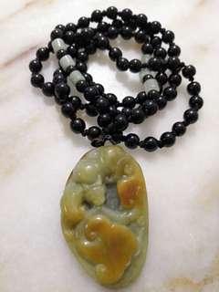 Antique Yellow Jade Pendant