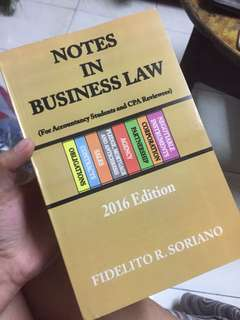 Notes In Business Law 2016 Edition
