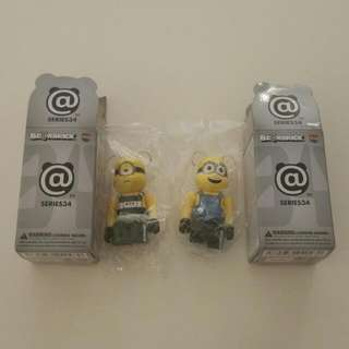 Bearbrick Be@rbrick Minion (new and with card)