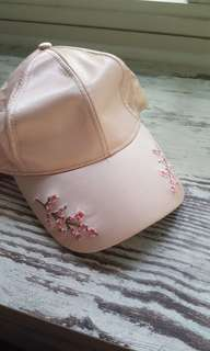 BNWT: FACTORIE Fake Silk Light Pink Baseball Cap Dad Cap
