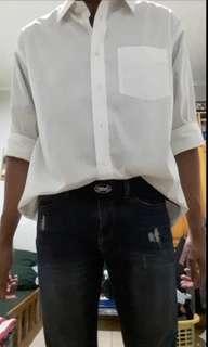 Men's White Oversized Shirt #kanopixcarousell