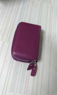 🚚 雙拉鍊名片.零錢包(紫色)