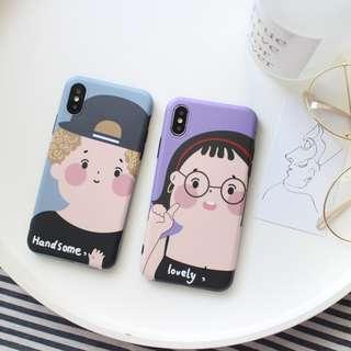 免郵2018新款卡通可愛全包殼情侶couple iPhone case