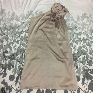 Semiformal one shoulder dress