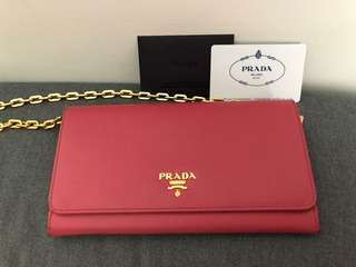 Prada Wallet pink color
