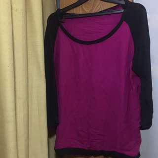 Purple big size blouse