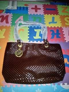Tas kulit wanita..coklat..baru (bisa nego)