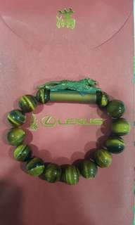 Tiger eye with wealth tiger Bracelet