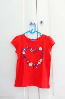 Tshirt Mothercare Red Heart