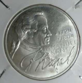 爆光1974年德國5馬克銀幣
