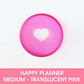 🚚 Medium Discs - Translucent Pink