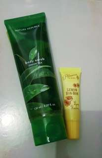Nature Republic Body Scrub & Lip Balm