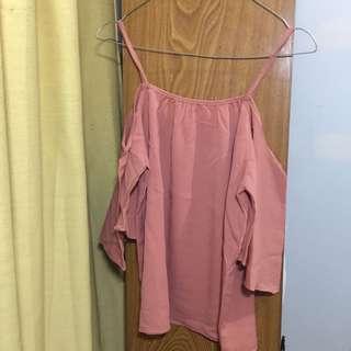 Sabrina blouse pink nude