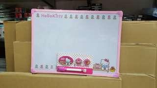 hello kitty白板 兒童學習畫板 膠框白板 whiteboard