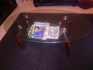 Glass center table & Glass dinning table
