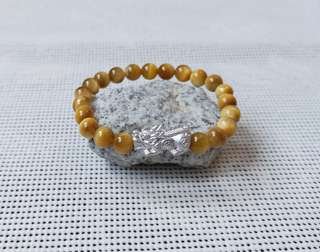 Gold tiger eye with pixiu Bracelet