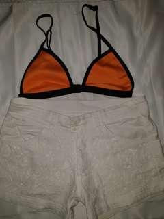 Sexy Orange Top Swimsuit