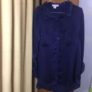 Navy shirt cotton on