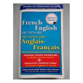 Merriam Webster's French English Dictionary