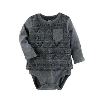 🚚 OshKosh Aztec print pocket Bodysuit
