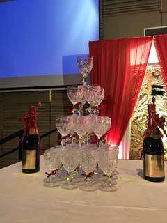Champagne Tower Arrangement