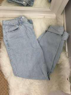 Size 26 Mom Fit High Waisted Jeans