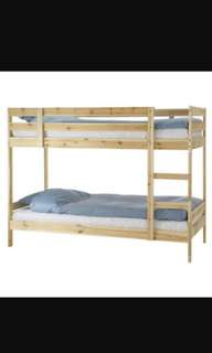 Dismantled Ikea Bunk Bed frame + mattress