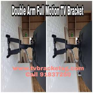 Full Motion / Double Arm TV Bracket / TV Wall Mount