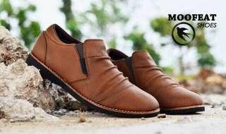 Sepatu Pria Casual Loafers Kerja Moofeat Wrinkle Original