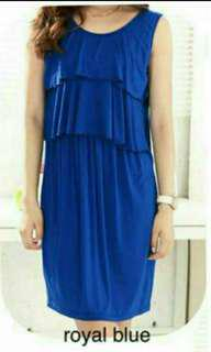 ROYAL BLUE NURSING DRESS