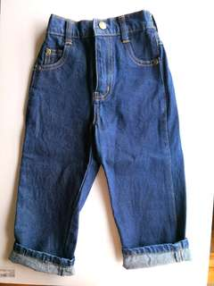 NEW Toddler Baby Boy Dark Blue Denim Jeans Long Pants - in perfect condition