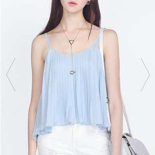 🚚 [Fayth] Pixie Pleated Cami In Pastel Blue