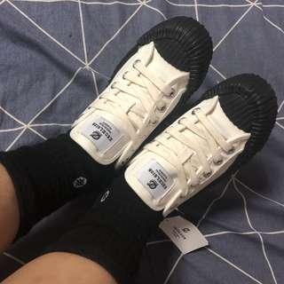 全新 現貨ㄧ雙24/37 韓國 EXCELSIOR餅乾鞋 帆布鞋 oreo色 特殊色