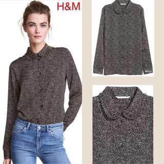 H&M print BLACK SPOTTED Blouse