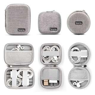 免郵2018新品耳機數據線插電器USB多功能收納盒  送小禮品