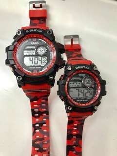 G-shock Comouflage couple