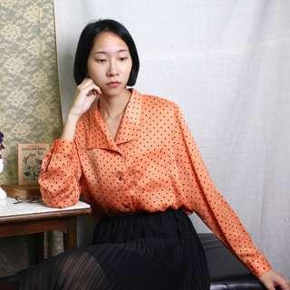 古著 東京暮色點點襯衫