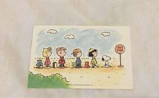 Snoopy peanuts post card